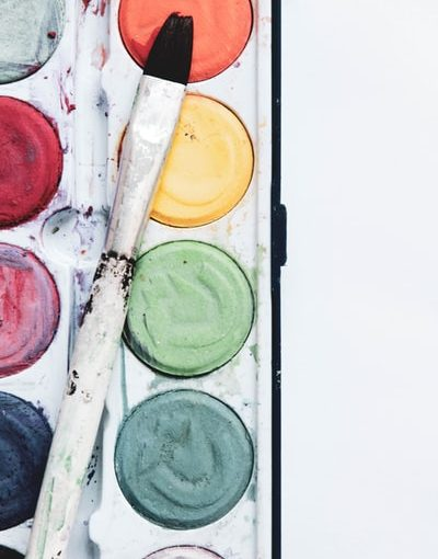 Paint palette for all the colors in the game